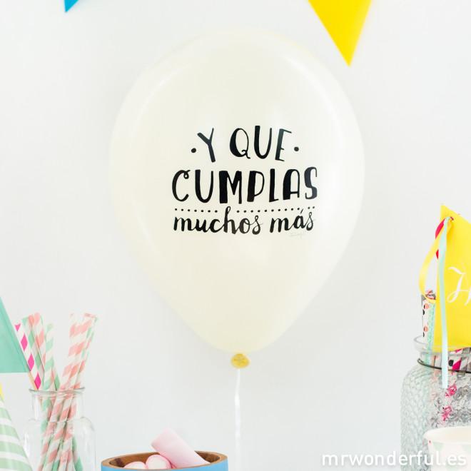 Globos para cumplea os molones mr wonderful - Feliz cumpleanos en catalan ...