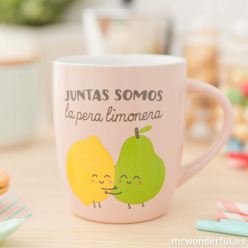 Taza juntas somos la pera limonera for Decoracion tazas mr wonderful