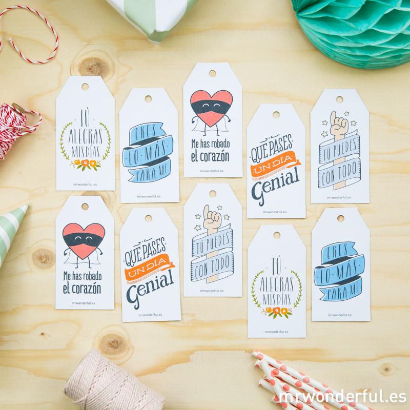 Etiquetas para regalos molones color mr wonderful - Etiquetas para regalos para imprimir ...