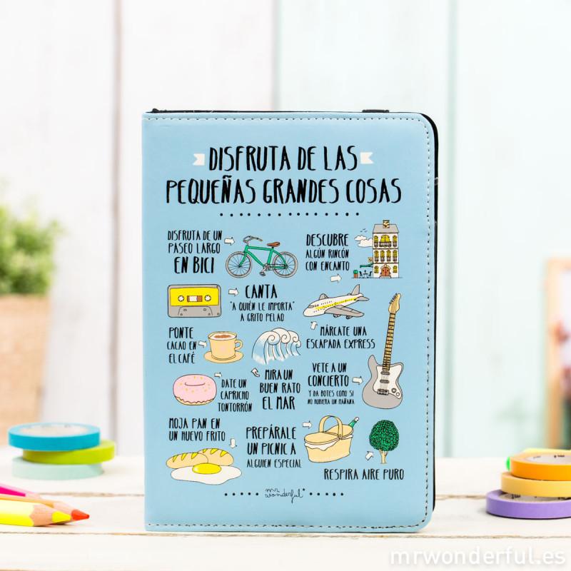 Funda para e book de 6 disfruta de las peque as cosas mr wonderful - Fundas para ebook ...