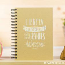 "Libreta kraft ""Superpoderes para tener Grandes Ideas"""