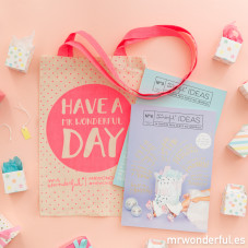 Revista Mr. Wonderful ideas 3 y 4 + bolsa de regalo