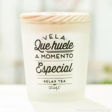 Vela que huele a momento especial - Relax Tea