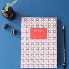 Libreta Iconic de dibujo - Geométrica azul y rojo