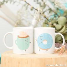 Set di due tazze - Con colazioni così sorprendenti vissero per sempre felici (IT)