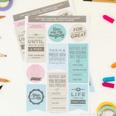 Adesivi per regali Wonder a colori (ENG)