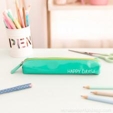 """Astuccio color menta piccolo """"Happy days"""" (ENG)"""