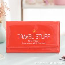 """Portadocumenti da viaggio """"Travel stuff"""" (ENG)"""