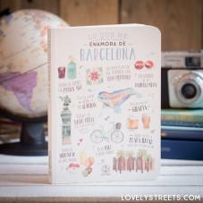 Notebook Lovely Streets - Lo que me enamora de Barcelona