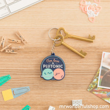 Key-ring - Our love is Plutonic (ENG)