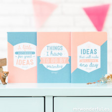 Idea notebooks - Pack of 3 ud