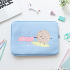 Laptop cover - Let's go surfing