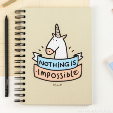 """Nothing is impossible"" colour notebook"