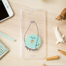 Transparent iPhone 6 Plus case - Donut