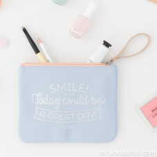 Vanity bag - Smile! Today could be a great day! (ENG)
