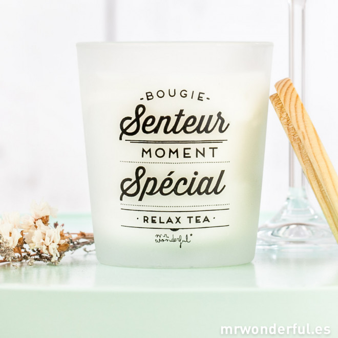 bougie senteur moment sp cial relax tea mr wonderful. Black Bedroom Furniture Sets. Home Design Ideas