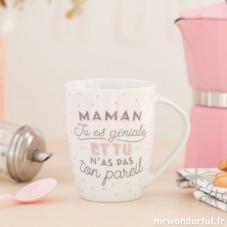 "Mug ""Maman, tu es géniale et tu n'as pas ton pareil"" (FR)"