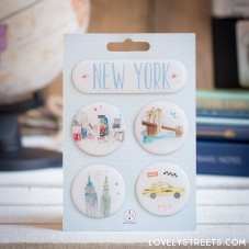 Aimants Lovely Streets - New York