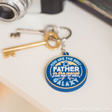 Porte-clé en caoutchouc - For great fathers (ENG)
