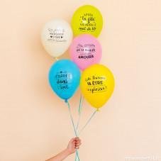 Ballons pour enterrer avec panache une vie de jeune fille (FR)