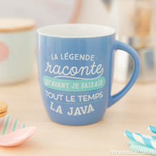 """Mug """"La légende raconte qu'avant je faisais tout le temps la java"""" (FR)"""