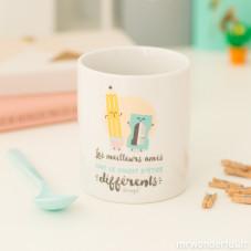 """Mug """"Les meilleurs amis ont le droit d'être différents"""" (FR)"""