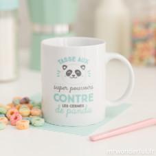 Mug - Aux super pouvoirs contre les cernes de panda (FR)