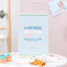 Album photo bébé – Les 12 premiers mois d'une grande aventure