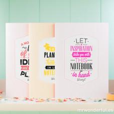 """Carnets """"Stunning notebooks for the best ideas"""" (ENG) - Pack de 3 u."""