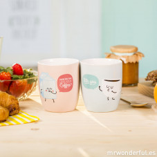 Set de 2 mugs - How do you like your coffee? With you (ENG)