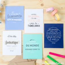 Voeux pour chaque occasion - Pack de 5 cartes de vœux (FR)