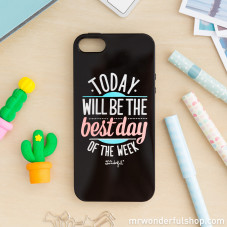 Coque noire pour iPhone 5/5S/5SE - Today will be the best day of the week (ENG)