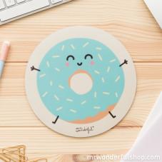 Tapis de souris rond - donut (FR)