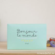Album pour bébé - Bonjour le monde mon premier anniversaire (FR)