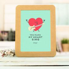 Affiche en relief et cadre en carton – You make my heart
