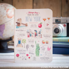 Caderno Lovely Streets - Things that make me love New York (ENG)