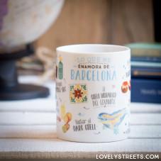 Caneca Lovely Streets - Lo que me enamora de Barcelona