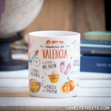 Caneca Lovely Streets - Lo que me enamora de Valencia