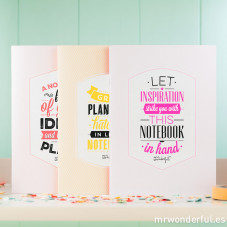 "Cadernos ""Stunning notebooks for the best ideas"" (ENG) - Conjunto de 3 ud."