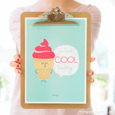 Poster summer con relieve - You look cool today