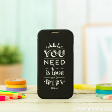 Capa preta para Samsung Galaxy S4 - All you need is love and wifi