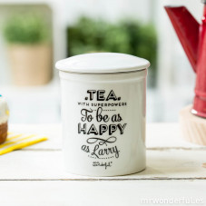 "Caneca de chá ""Superpowers to be as happy as Larry"" (ENG)"