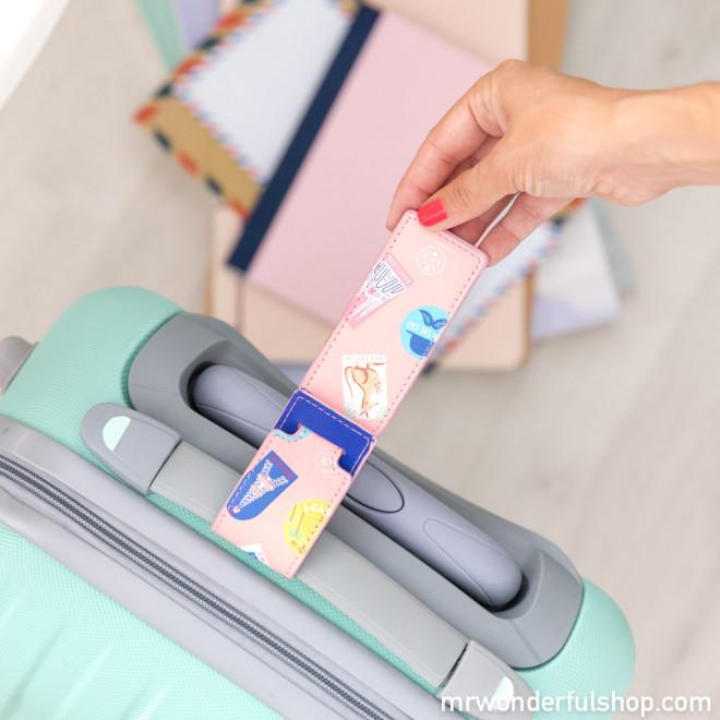 Etiqueta para equipaje viajero - Lovely Streets