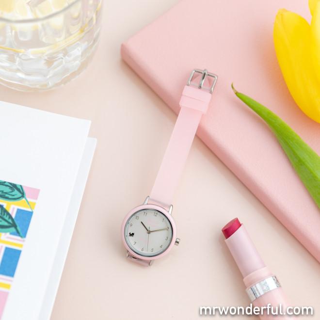 Reloj Rainbow rosa - Have a wonderful time