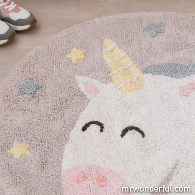 Alfombra lavable Lorena Canals Unicornio - Believe in yourself