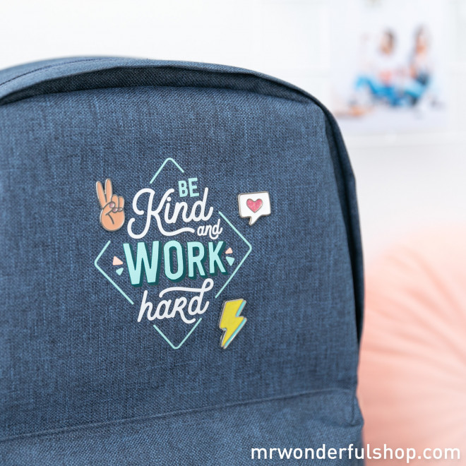 Mochila - Be kind and work hard