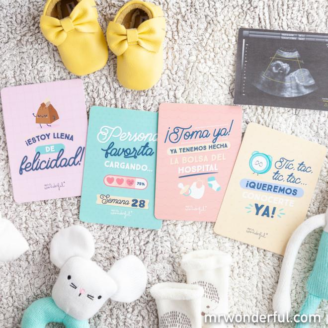 Tarjetas de embarazo - Momentazos de mi embarazo