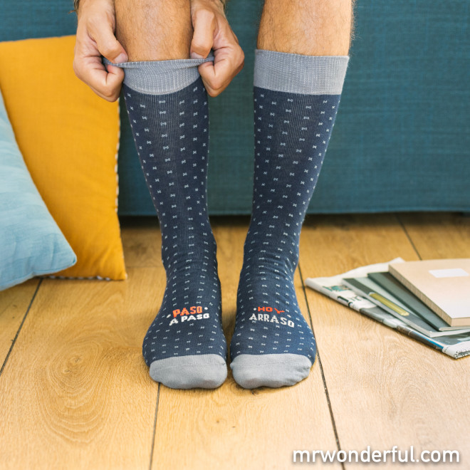Calcetines talla única (41-46) - Paso a paso... ¡hoy arraso!