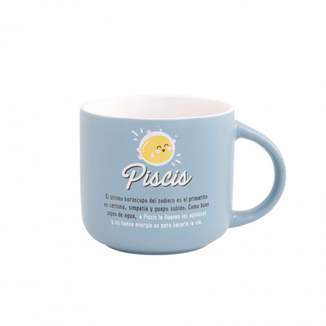 Taza Mr. Wonderful con el signo de piscis