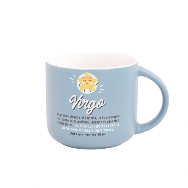 Taza Mr. Wonderful con el signo de virgo